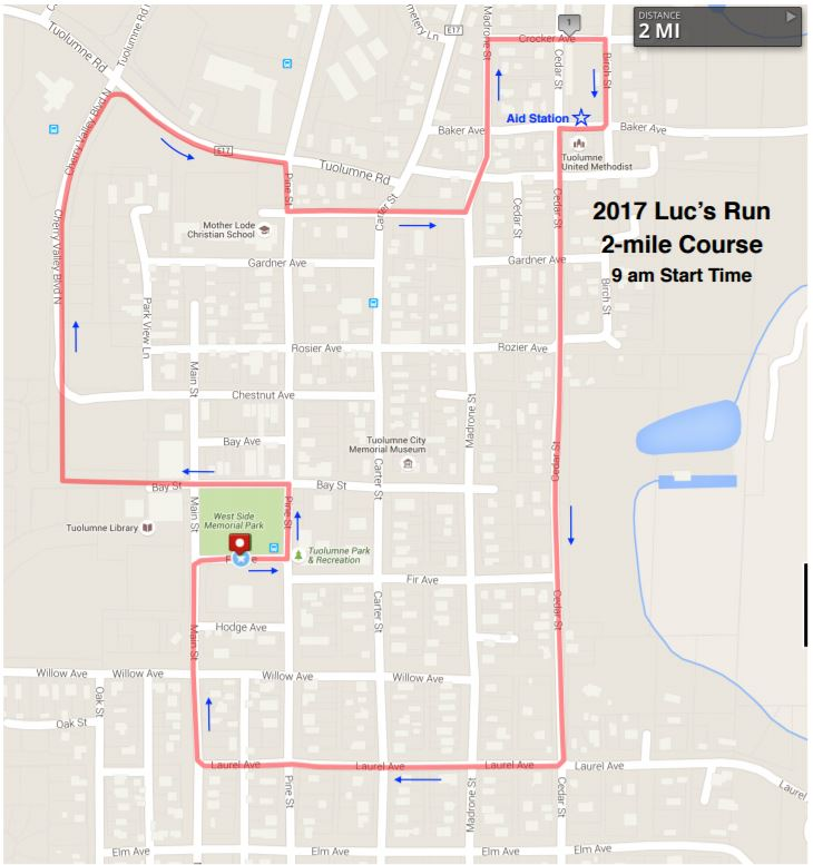 2 Mile Map